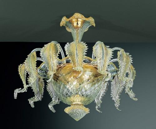 Plafoniere E Lampadari : Vetro soffiato murano illuminazione lampade e lampadari